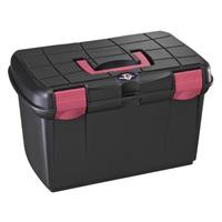 Для конюшни Ящик для щеток Plastica Panaro черный/розовый