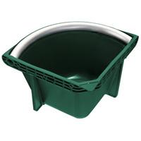 Для конюшни Кормушка угловая Plastica Panaro угловая зеленая